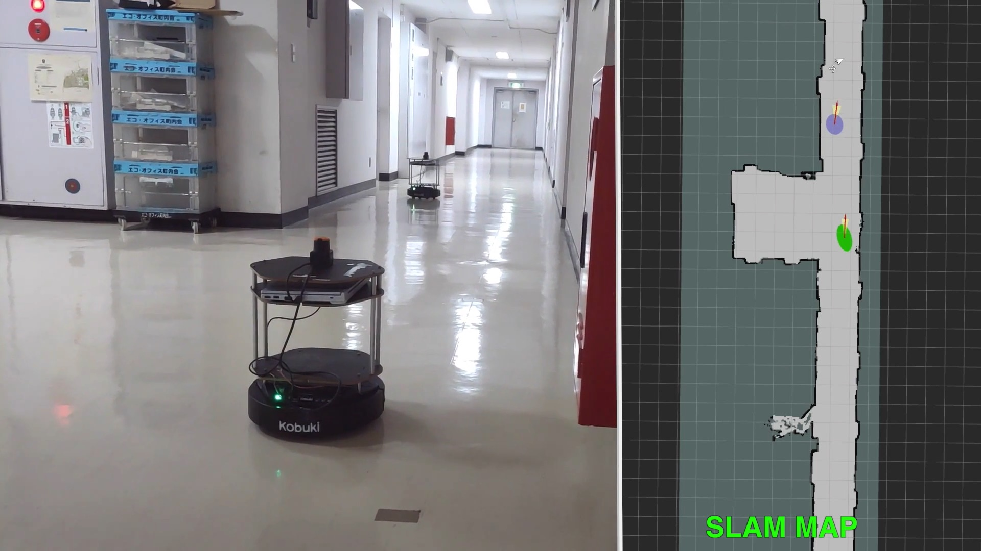 [Demo] Police&Thief : A Demo of Wi-Fi Fingerprint Localization and SLAM Autonomous Navigation
