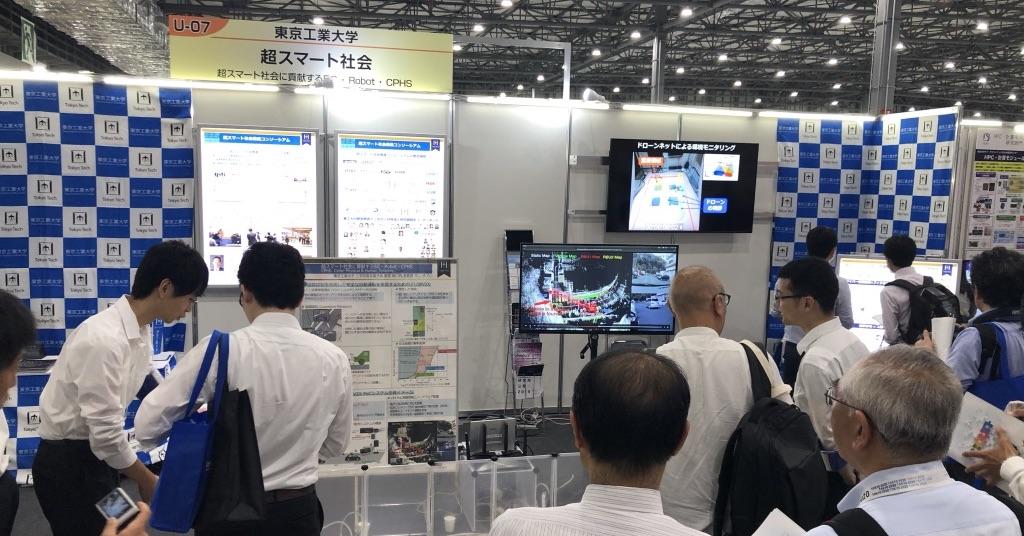 Sakaguchi Lab exhibited 5G mmWave V2X system in INNOVATION JAPAN 2019